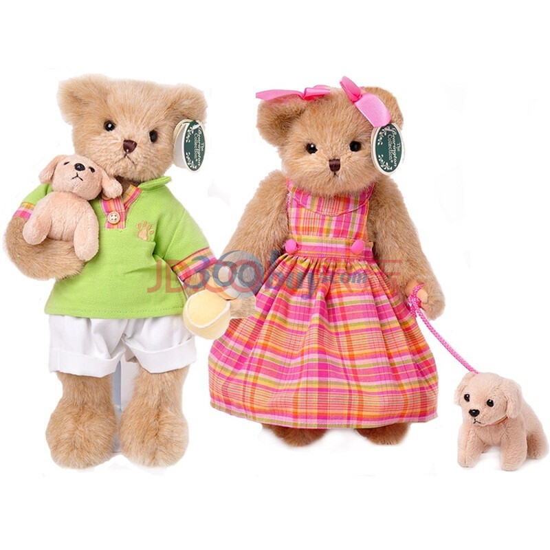 美国Bearington贝瑞14寸泰迪熊和情侣套装图