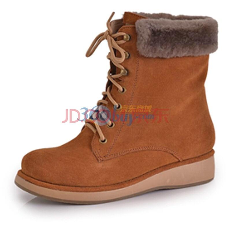 camel美国骆驼2011秋冬雪地靴休闲女鞋棉鞋保暖靴