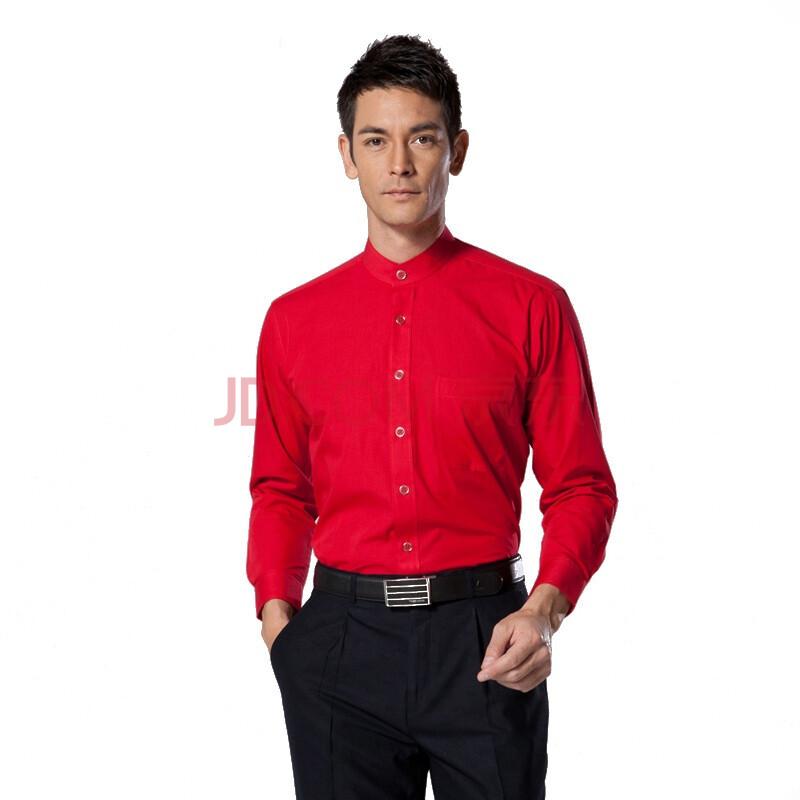 柒牌 SEVEN男装男士婚庆休闲长袖立领红衬衫