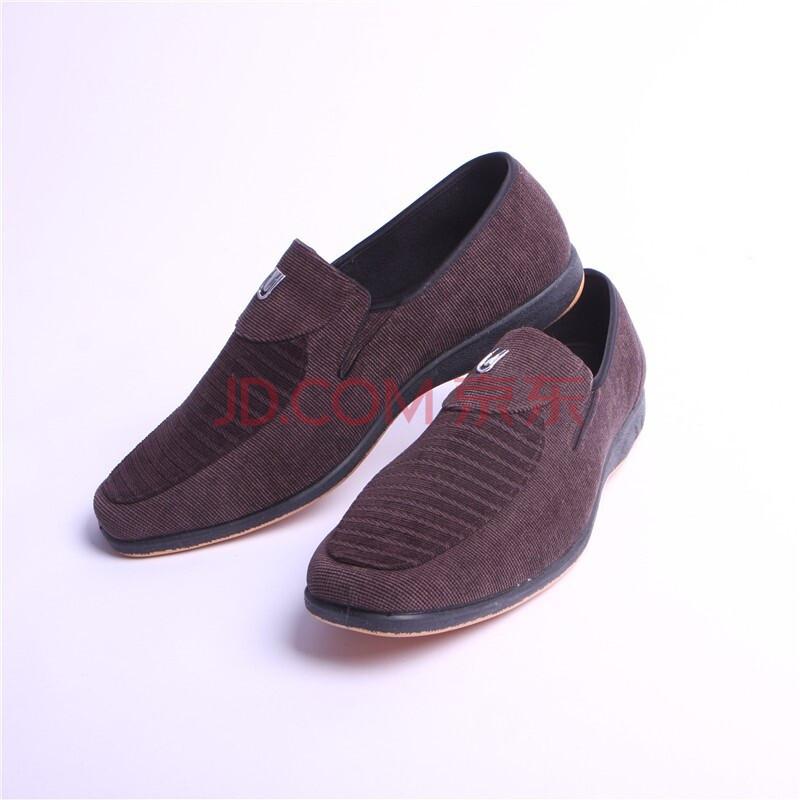 步福祥2012男鞋 男布鞋 老北京布鞋 单鞋 8910烟色 44