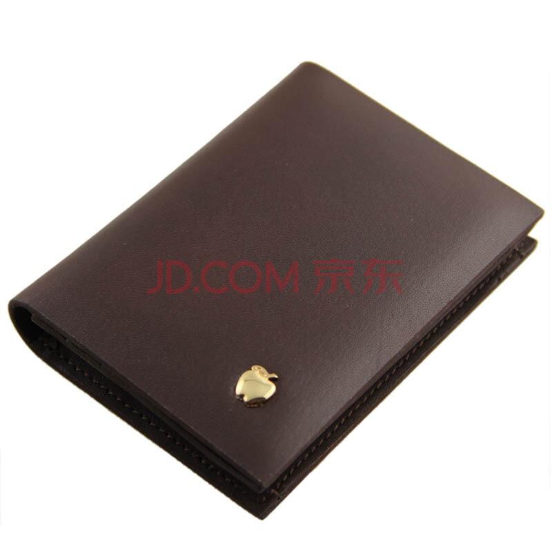 apples苹果烫金logo精致头层牛皮男士钱包161109-17b