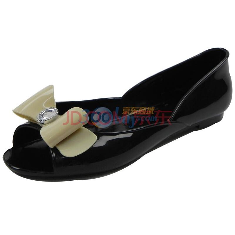 水晶花鱼嘴船鞋