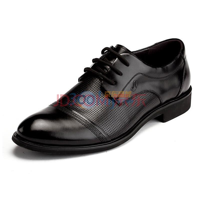 头层牛皮时尚高档商务男士皮鞋