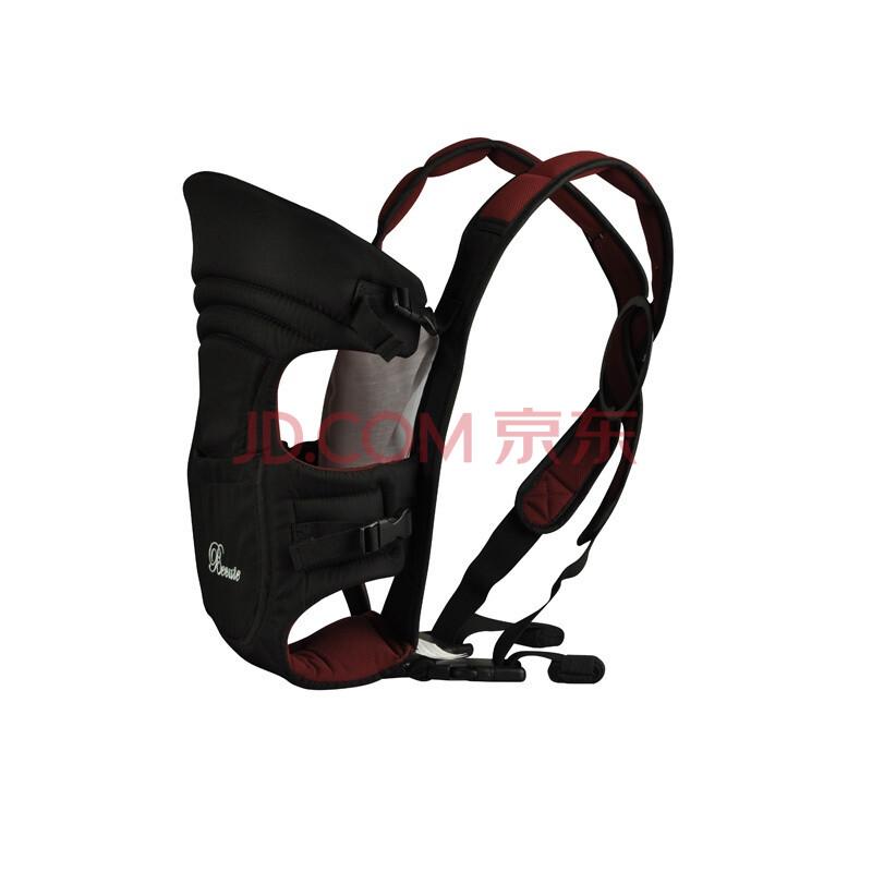 背景图片 红色/淘气宝贝婴儿背带舒适款BB005 黑色加枣红色图片