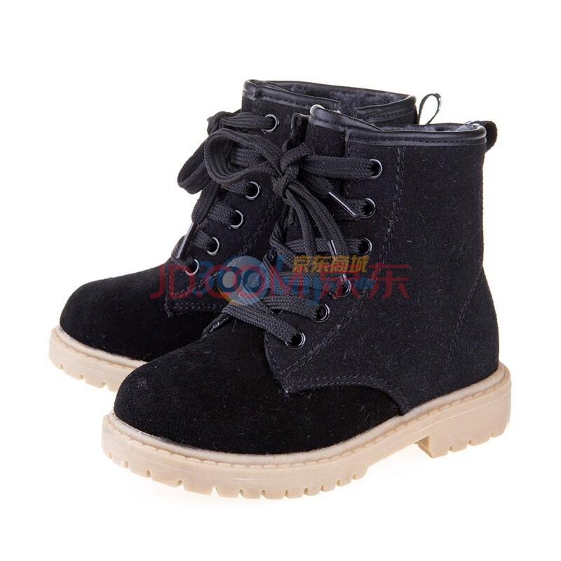 童鞋 男女童高帮皮鞋 棉鞋