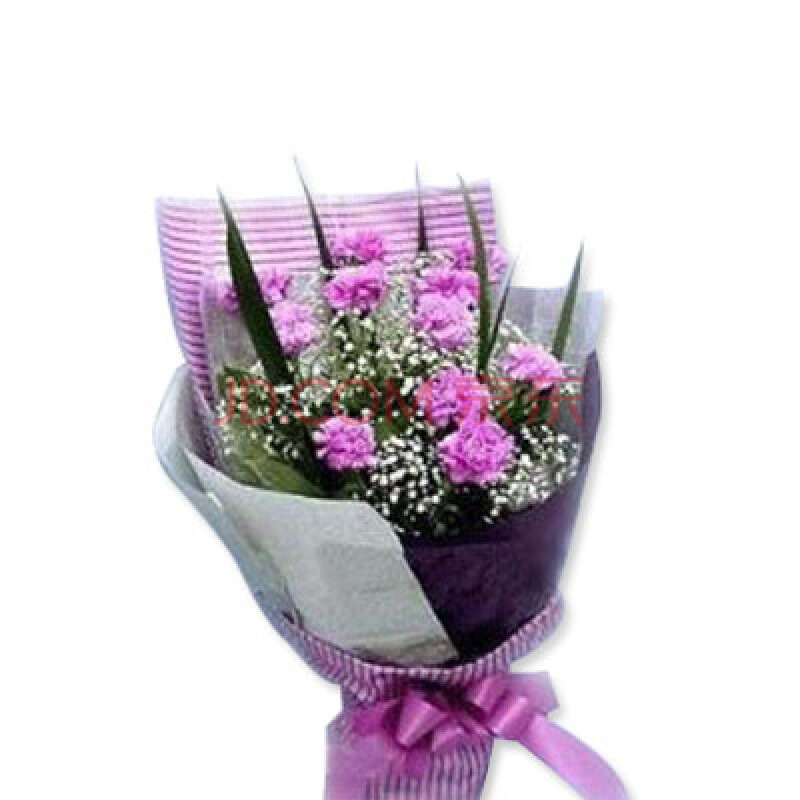 66枝红玫瑰花束+8支粉香水百合