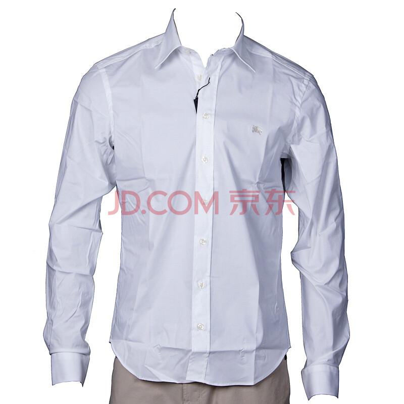 burberry巴宝莉男士白色商务休闲衬衫3348560