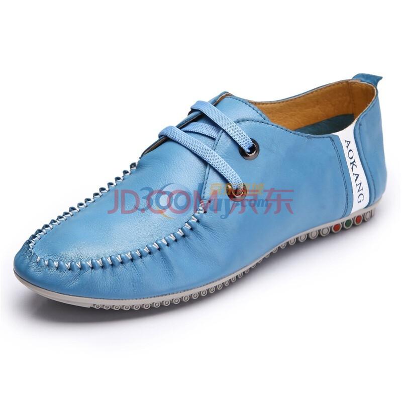 新品男士时尚系带休闲真皮鞋