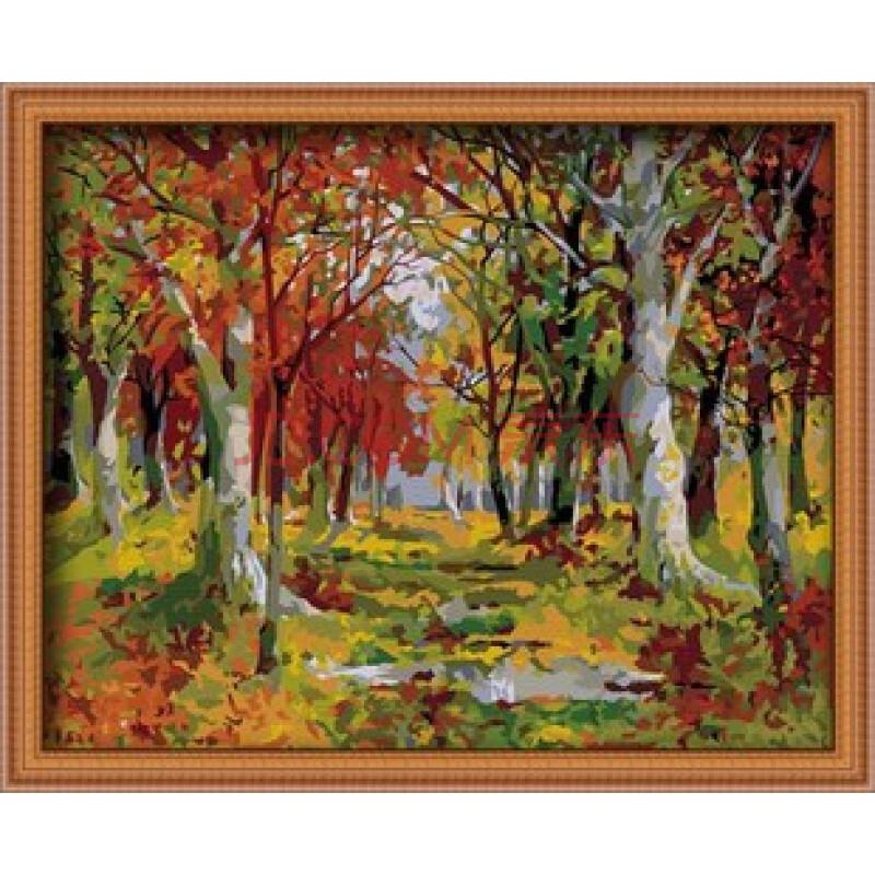 韩国手绘边框秋天