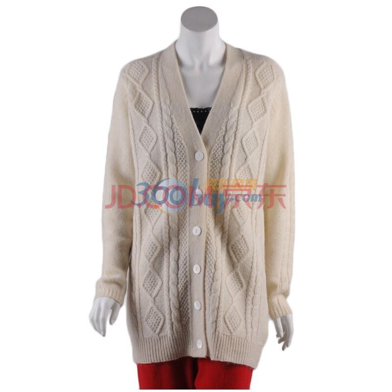 纯手工编织女装长款开衫外套羊毛