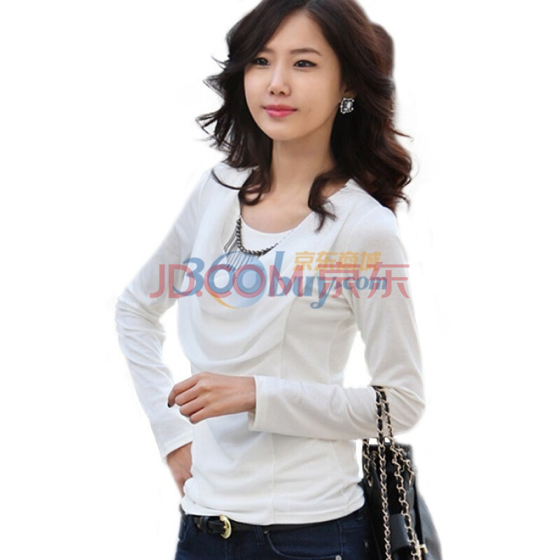 尚贵华2011秋季新品女士白色休闲淑女打底衬衫