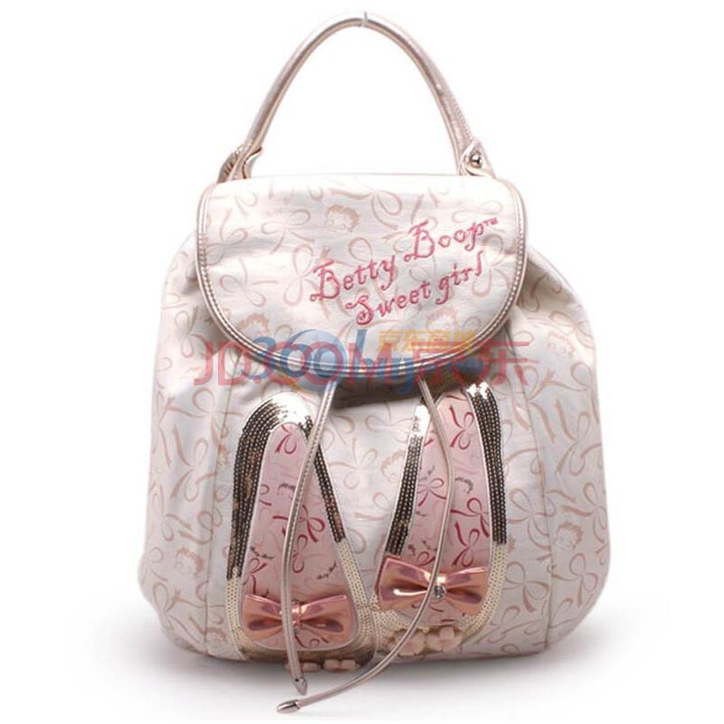 贝蒂betty新款白色俏露丝双肩包a5252-64图片