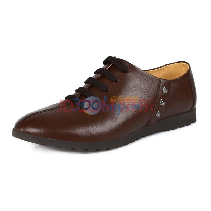 时尚英伦潮流男士休闲头层软牛皮鞋