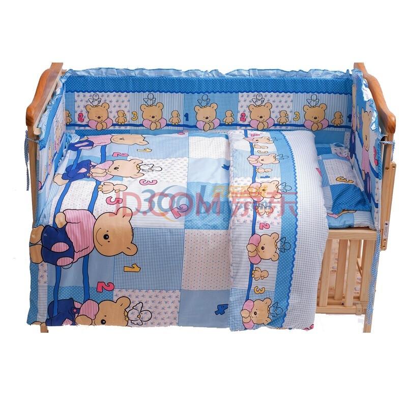 棉十件套 小熊乐园蓝色 115.65图片