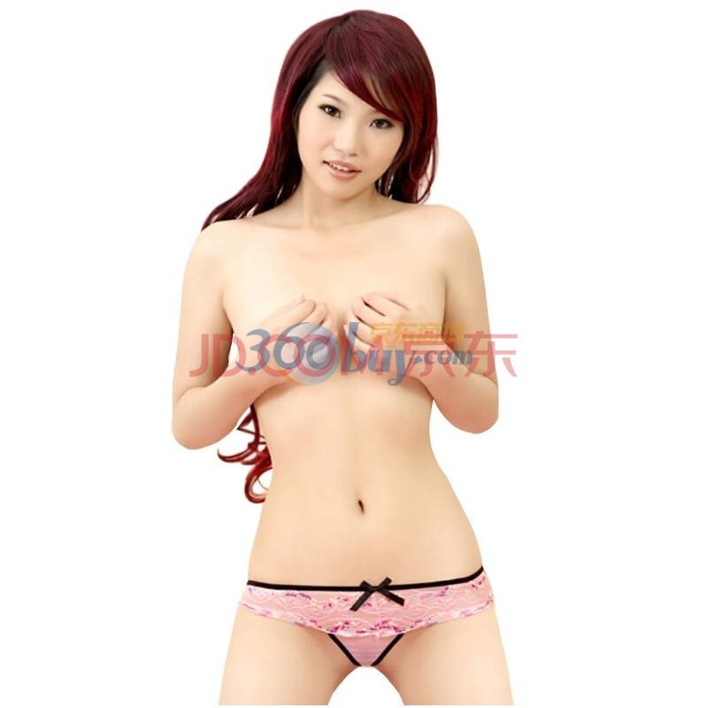 耶妮娅性感情趣内衣女士内裤 薄纱蝴蝶结T裤d