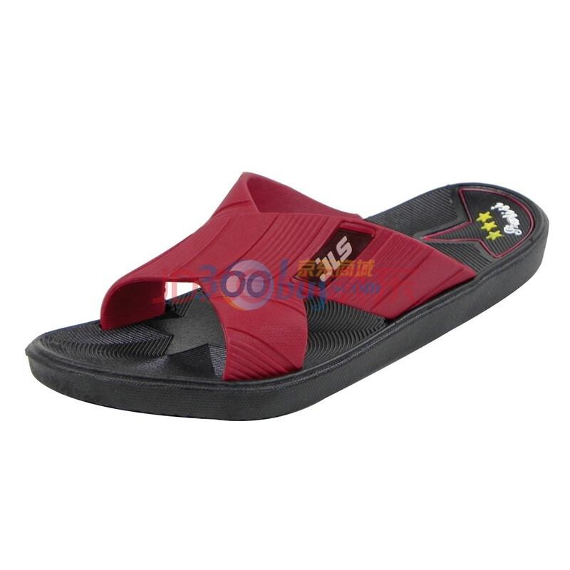伽利斯新款男士家居拖鞋 星之恋男士拖鞋 高级舒适防滑拖鞋B79-1 红色 45