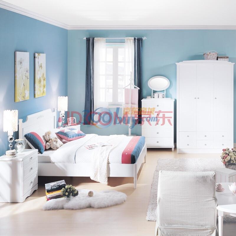 新干线儿童家具青少年家具欧式奶白色床