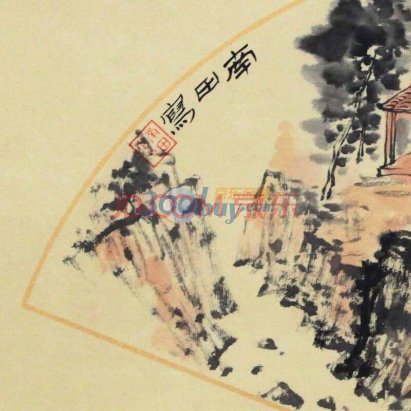 山居秋暝配图手绘