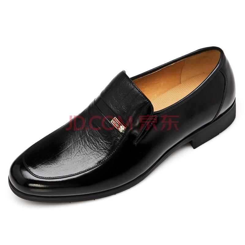 Aokang/奥康 新品男士时尚套脚商务皮鞋113311091 092 黑色 41