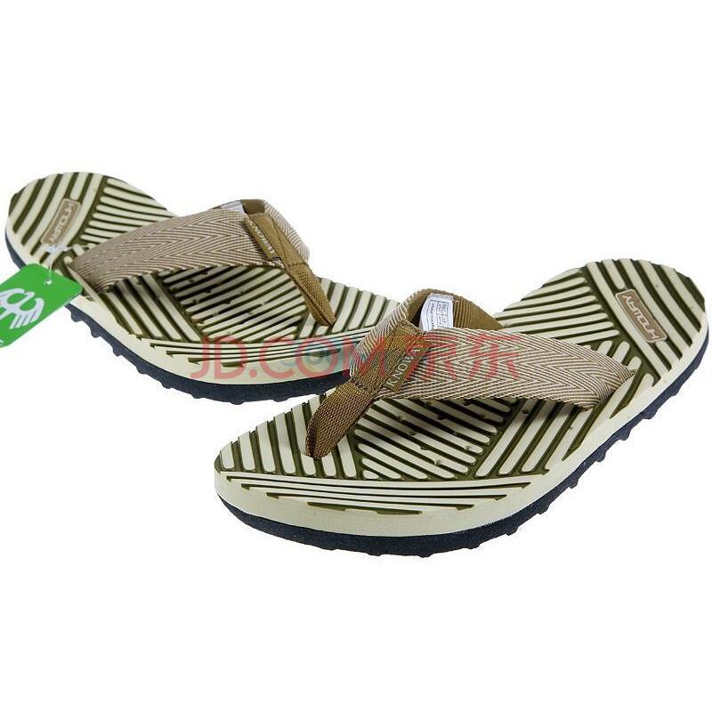 2010最新男款沙滩拖鞋1003d棕绿色41码