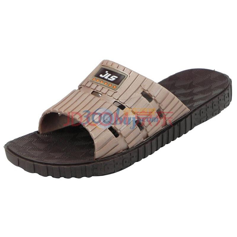 伽利斯新款男士家居拖鞋 男士拖鞋 高级舒适防滑拖鞋 B72-1 棕色 45
