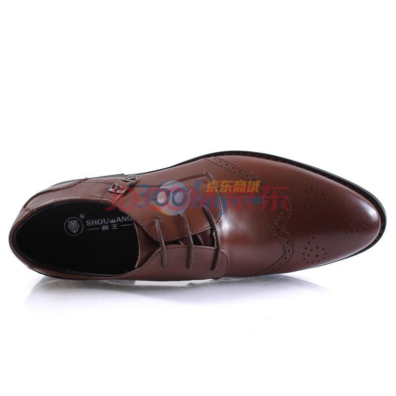 兽王 春季新款男式商务正装皮鞋日常休闲男鞋时尚