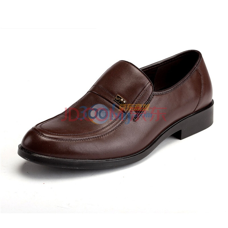 Fuguiniao/富贵鸟 休闲鞋 新款商务正装头层牛皮男鞋皮鞋S283090 棕色 44