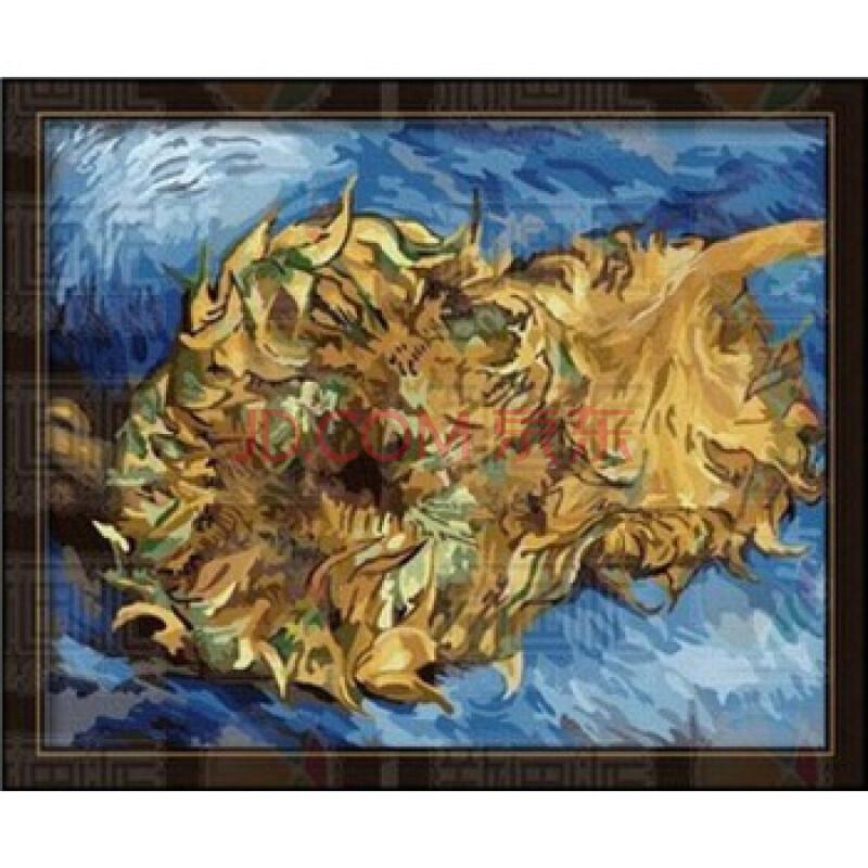 绘diy油画 梵高 两朵剪下的向日葵 50-两朵向日葵油画 凡高油画两朵