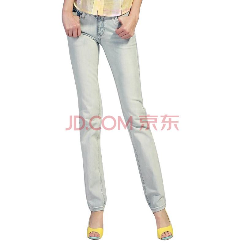 2012秋装新款日本杂志街头超帅气复古风 浅色牛仔