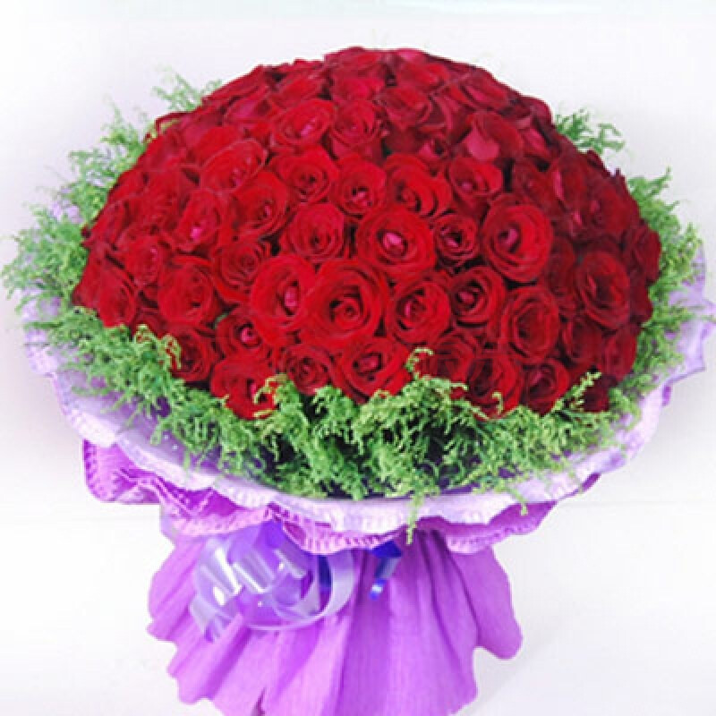 七夕情人节鲜花速递_花宿名家七夕情人节鲜花速递预售99朵玫瑰花