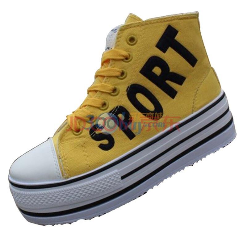 超高松糕鞋 韩版厚底鞋