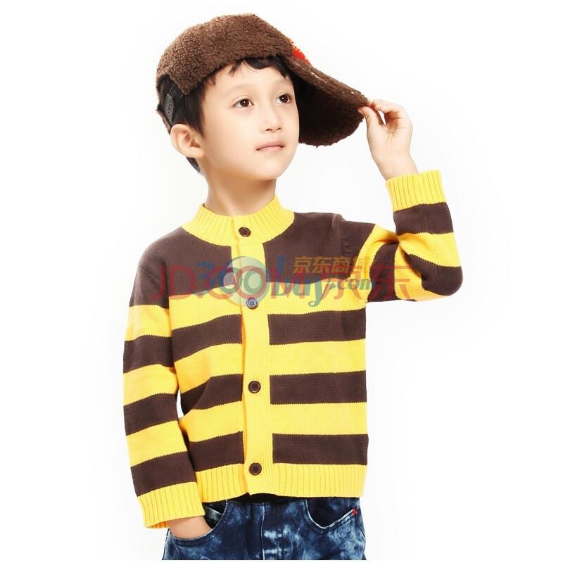 时尚条纹男童毛衣开衫