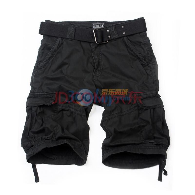 麻吉match 男士工装短裤