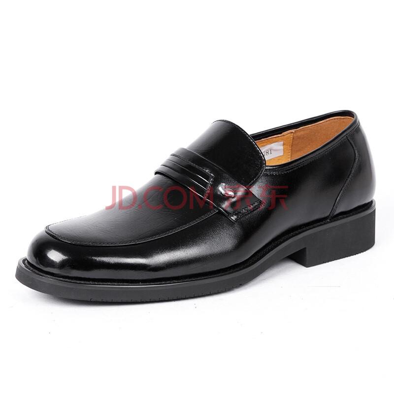 Fuguiniao/富贵鸟 正装鞋 头层牛皮商务套脚男士皮鞋T193781 黑色 44