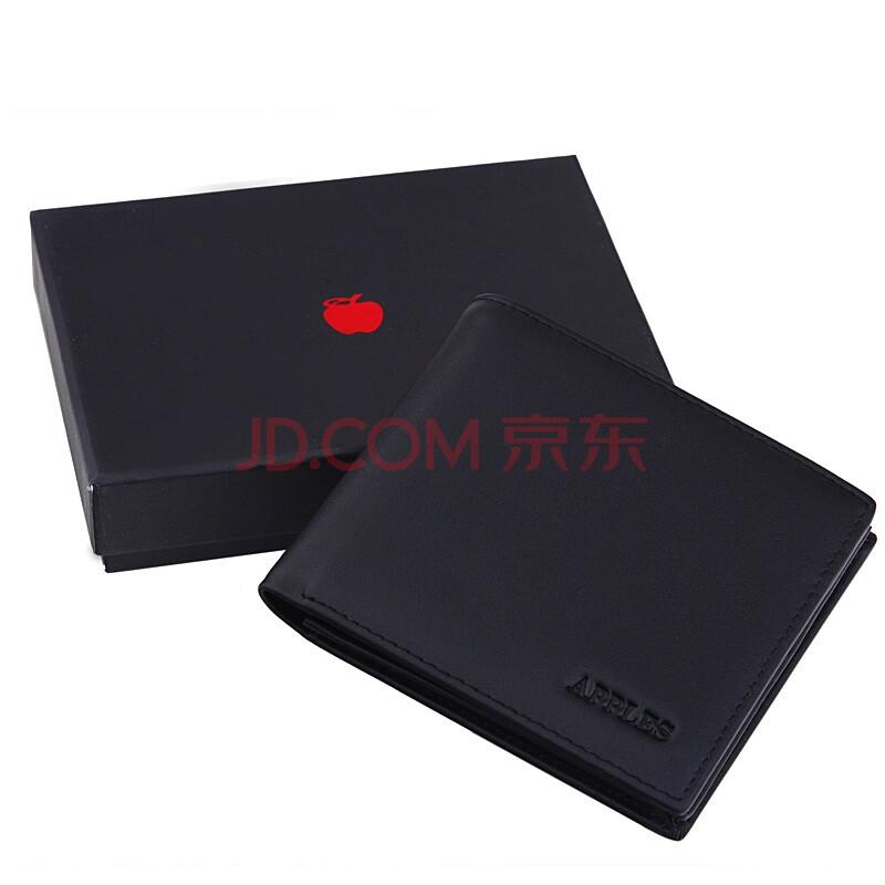 苹果apples男士横款钱包amp-015-1黑色图片