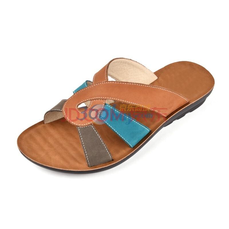 磨砂皮凉拖鞋