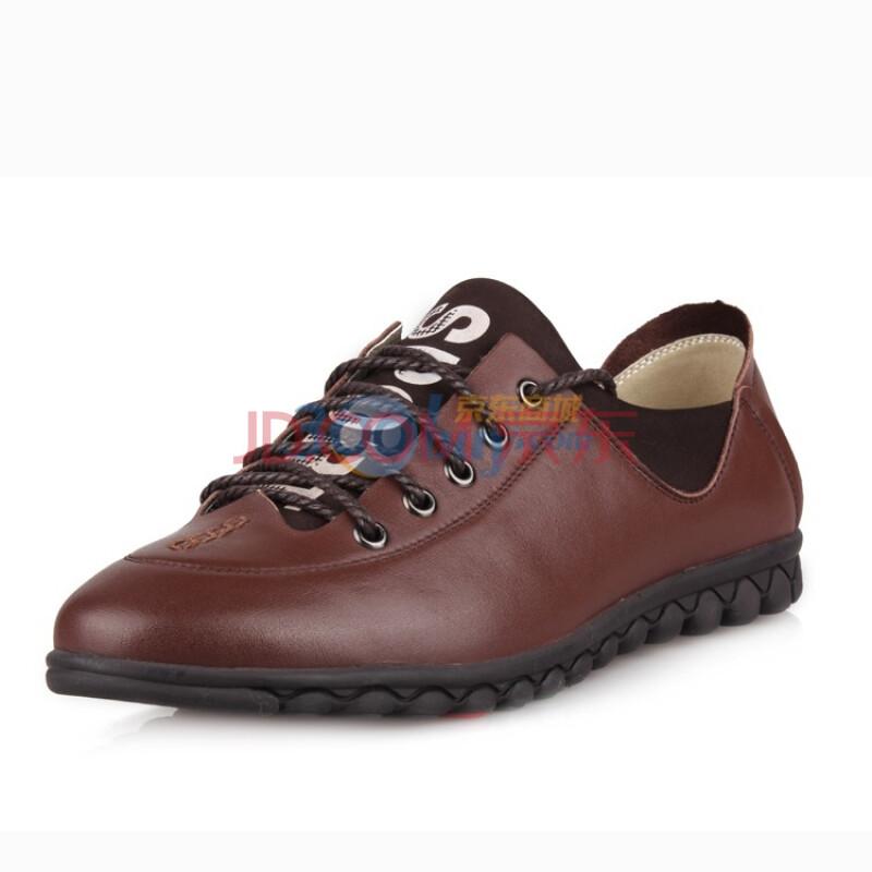 新款男鞋商务休闲皮鞋百搭日常休闲鞋头层软牛皮鞋