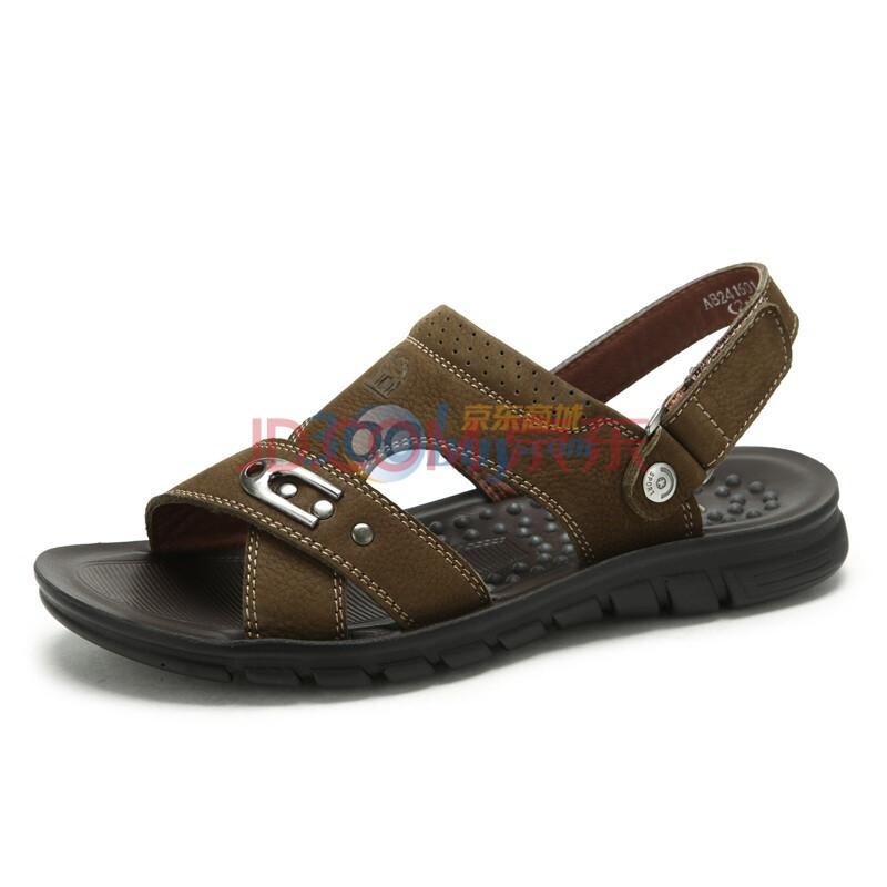 CAMEL/骆驼 2012夏季新款男鞋牛皮休闲凉鞋 2241601 卡绿 44