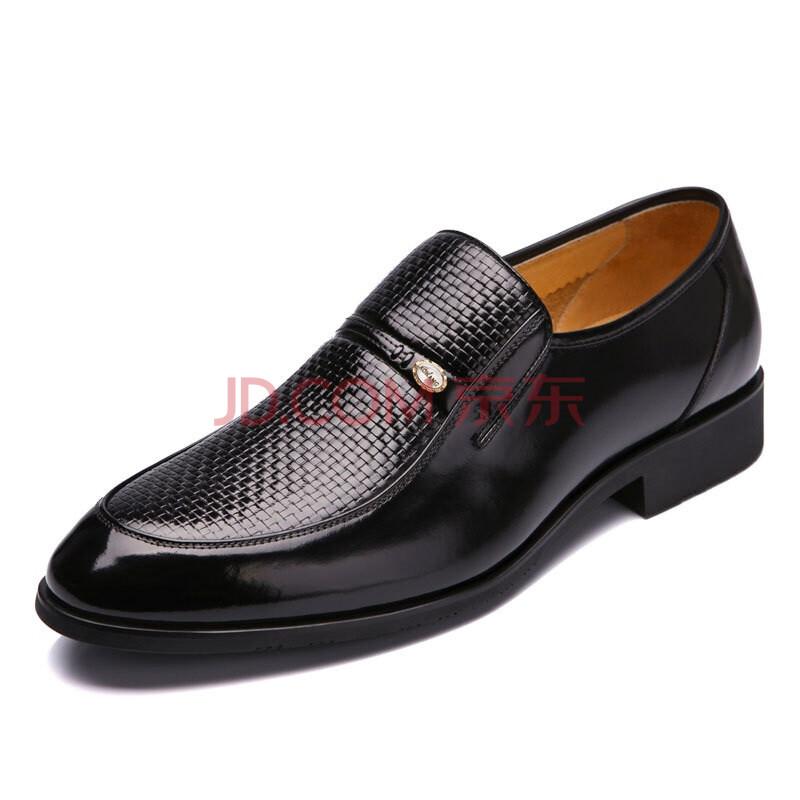 奥康(Aokang) 经典编织纹鞋面商务正装鞋123111089 黑色 39