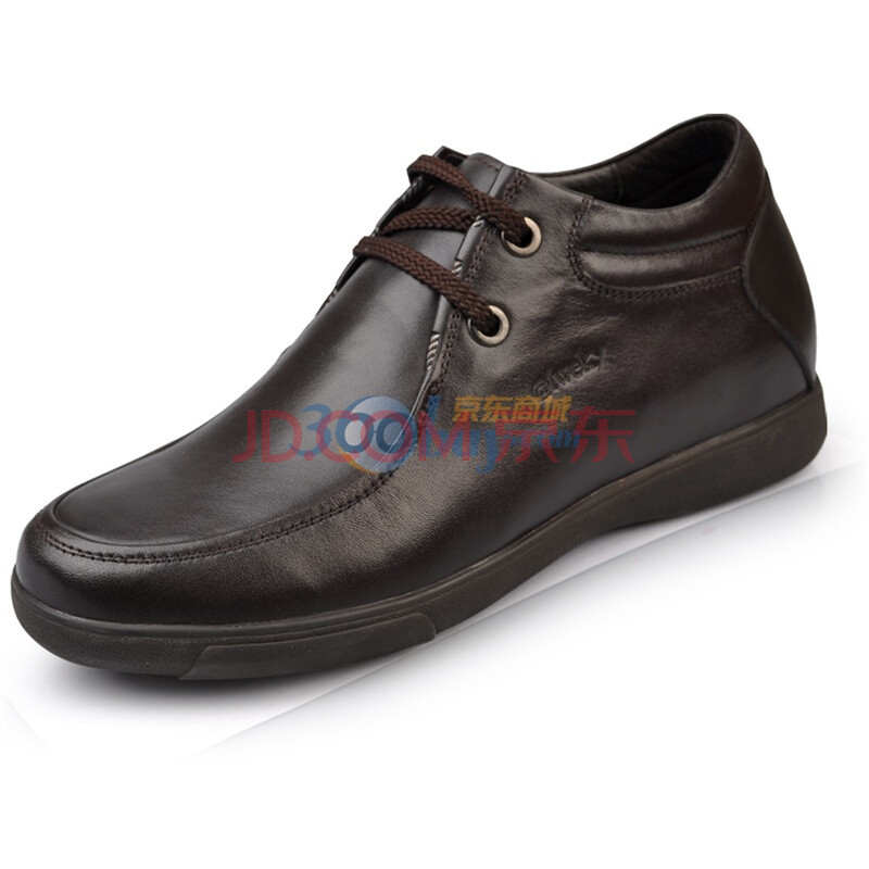 艾维基aiweky 增高鞋 热卖新款男士隐形内增高男鞋 休闲鞋系带男鞋 L008 棕色 42