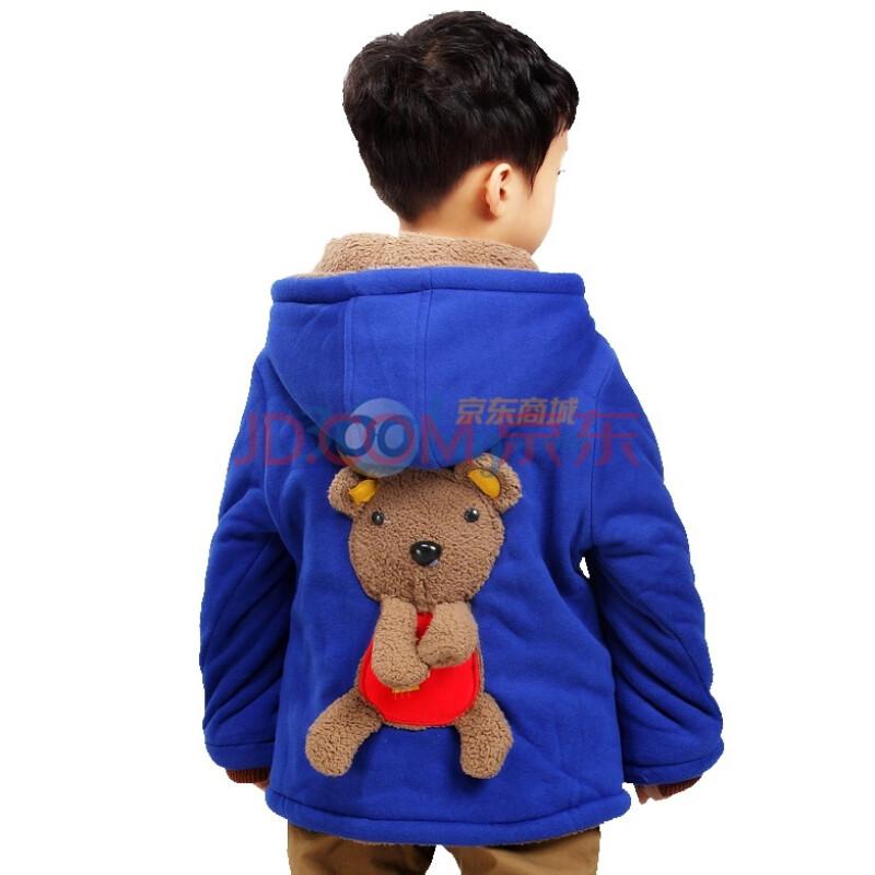 小虎宝儿童装 可爱小熊男童棉衣 儿童棉袄 棉衣 外套