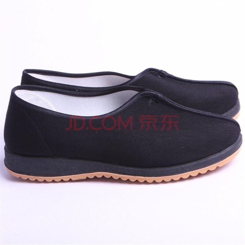 步福祥男鞋 老北京布鞋 舒适透气男鞋 13-90黑色 黑色 44