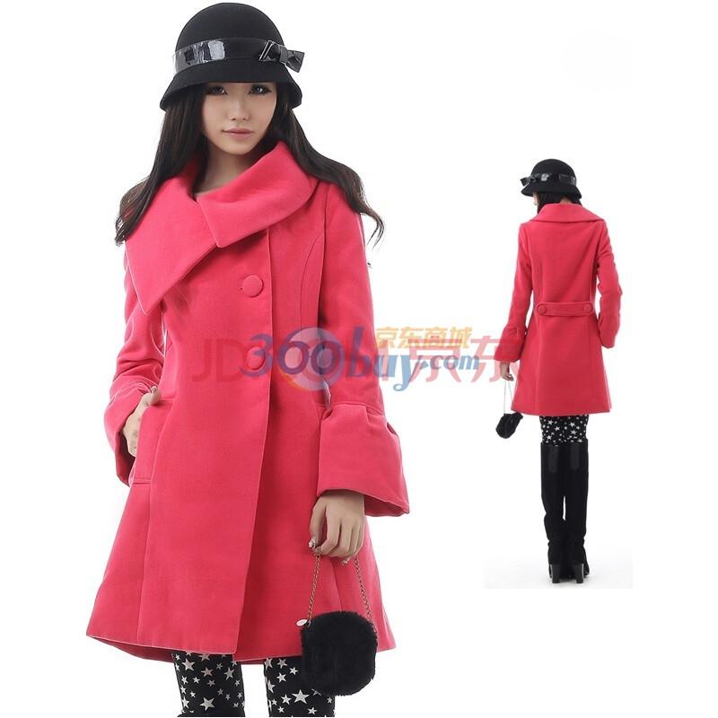 大衣外套g-07 西瓜红