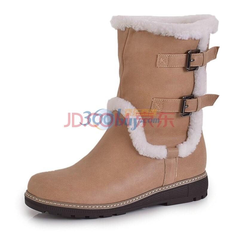 camel美国骆驼2011秋冬雪地靴休闲女鞋棉鞋保暖靴米
