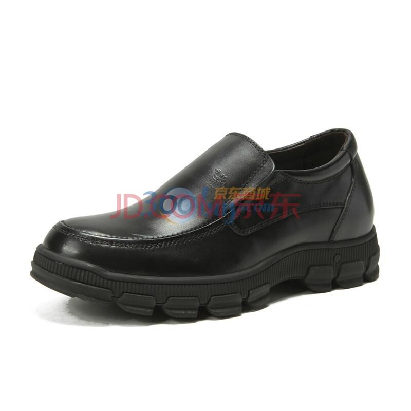 CAMEL/骆驼男鞋 商务休闲男士皮鞋内增高皮鞋 2043017 黑色 44