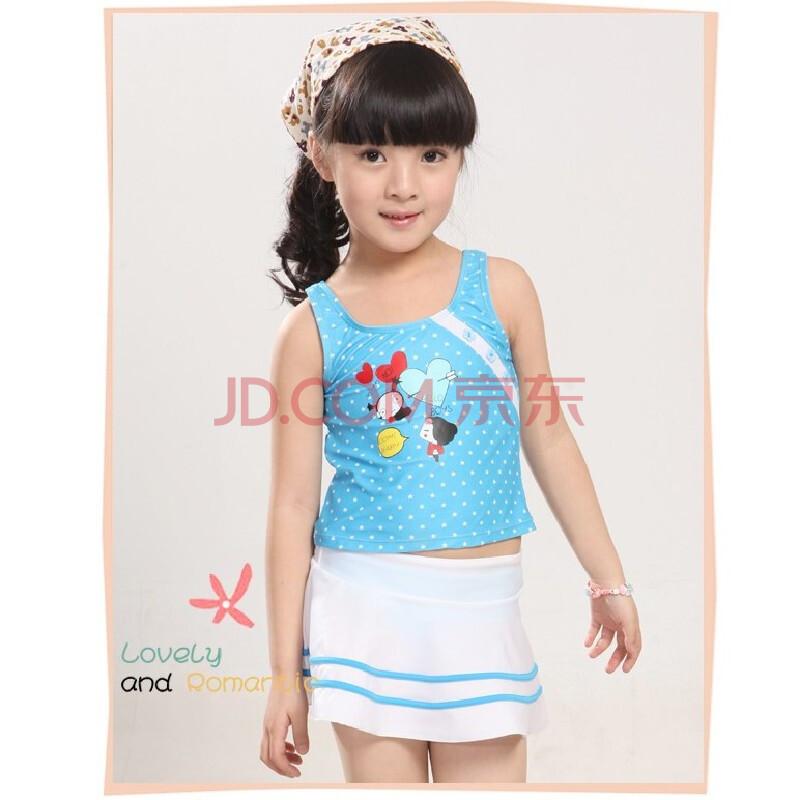 海韵莱儿童泳衣 裙式分体 可爱公主 韩版女孩 儿