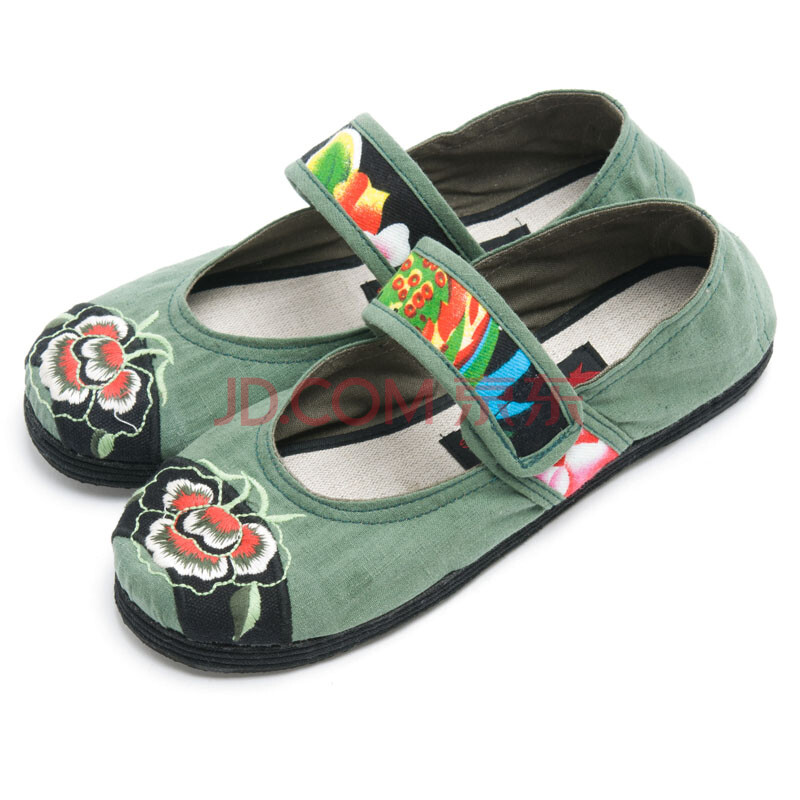 枫树坪 前绣花布鞋