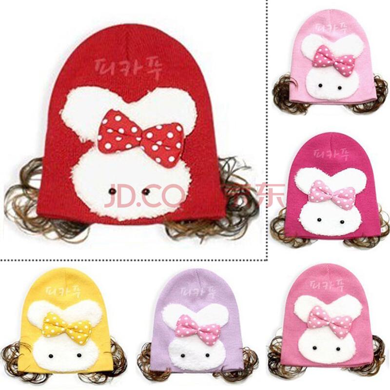 儿童保暖兔子假发帽