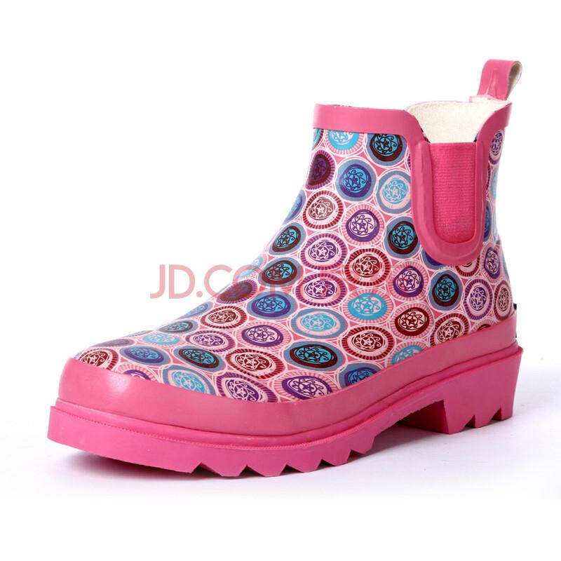 美丽短筒女式雨鞋女士雨靴