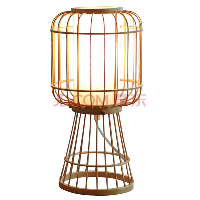 稀品 独家德国原创设计 手工制作竹木落地台灯lasfera001